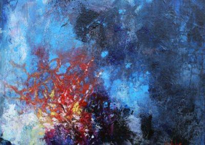 colori sottacqua acrilico su tela 50x50