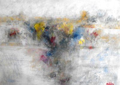 colori sul paesaggio acrilico su mdf 60x80