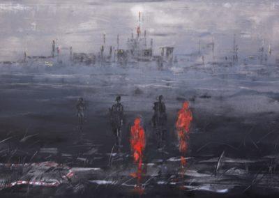 crime scene - do not cross acrylic on canvas 80x150