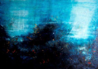 deep blue acrilico su tela 196x146