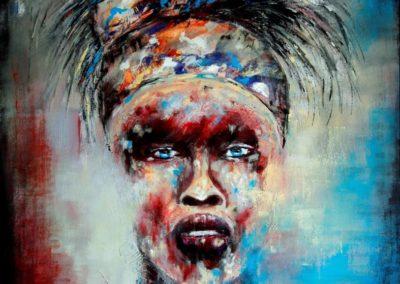 donna del senegal - acrilico su tela 100x81