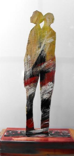 figure abbracciate scultura 55x27x13 retro