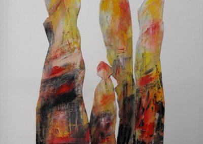 figure in piedi scultura 60x40x13