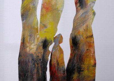 figure in piedi scultura 60x40x13 retro