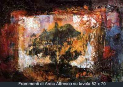 frammenti di ardia affresco su tavola 52x70