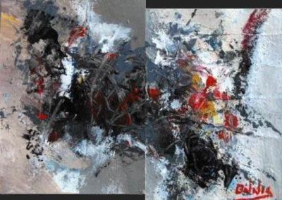 frammenti di colore acrilico su cartone 120x150
