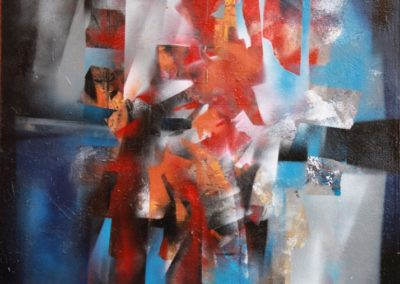 frammenti di colore acrilico su tela 50x70