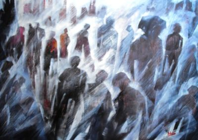 ground zero una luce di speranza acrilico su mdf 116x87