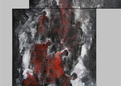groundzero disperazione acrilico su tela 71x121