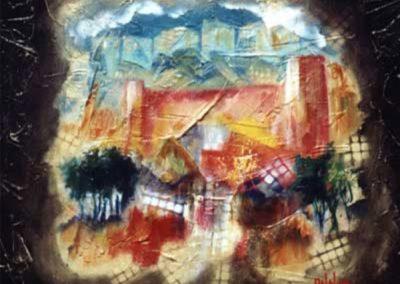 il castello di burgos acrilico su cartone 80x80