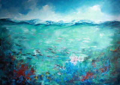 life underwater acrylic on canvas 256x187