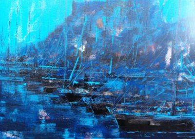 marina di castelsardo acrilico su tela 80x100