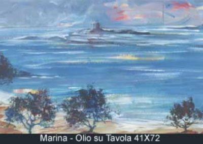 marina olio su tavola 41x72