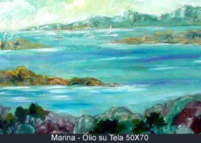 marina olio su tela 50x70