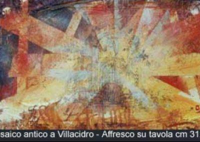 mosaico antico a vollacidro affresco su tavola 31x62