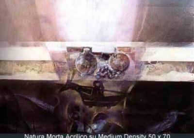 natura morta acrilico su mdf 50x70
