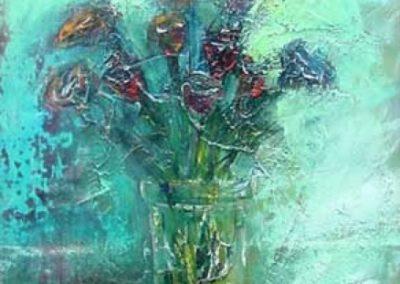 natura morta acrilico su tavola 41x55