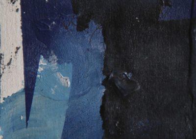 nel blu acrlico su tela 70x100