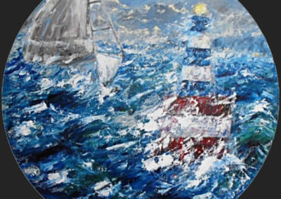 nel mare in tempesta acrilico su mdf100