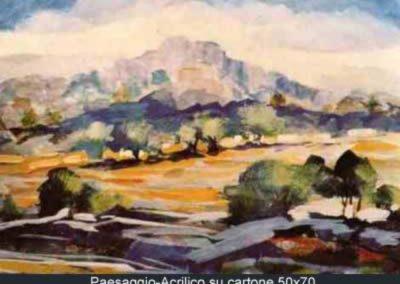 paesaggio acrilico su cartone 50x70
