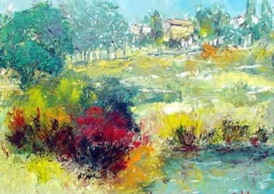 paesaggio acrilico su pvc 50x40