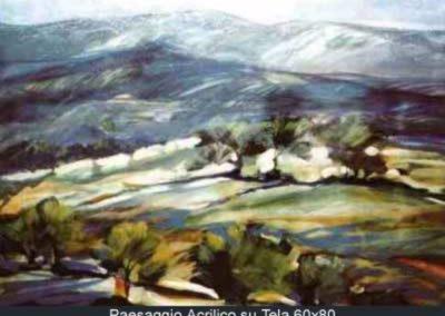 paesaggio acrilico su tela 60x80