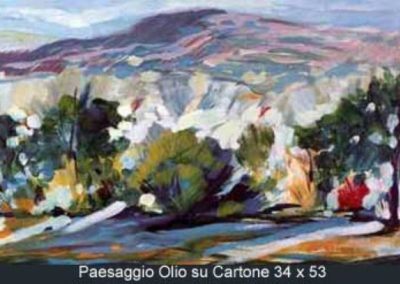 paesaggio olio su cartone 34x53