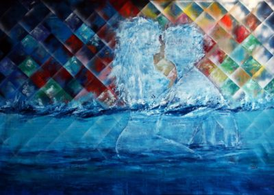 physical attraction acrylic on canvas 187x124_5