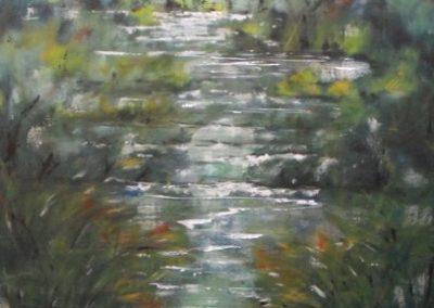 rio araxisi a meana acrilico su tela 70x100