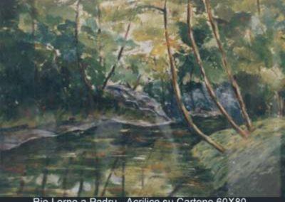 rio lerno e padru acrilico su cartone 60x80