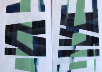 sovrapposizioni acrilico su pvc 100x72