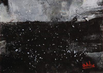 spazio infinito acrilico su tela 70x100
