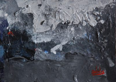 sul cemento acrilico su tela 70x100