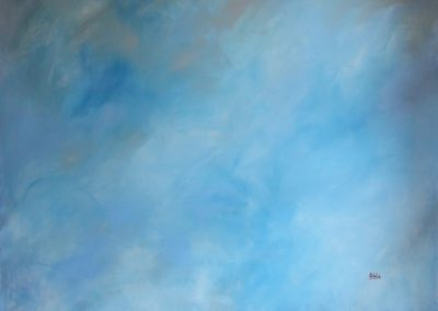 the air is the vital energy without which there would be no life acrylic on canvas 175x194
