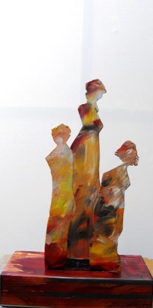 tra donne scultura 42x27x13 retro