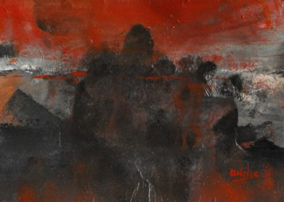 tramonto acrilico su tela 150x120