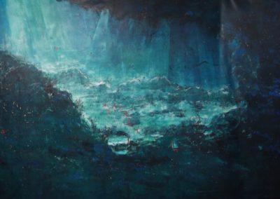 underwater acrilico su tela 371x192