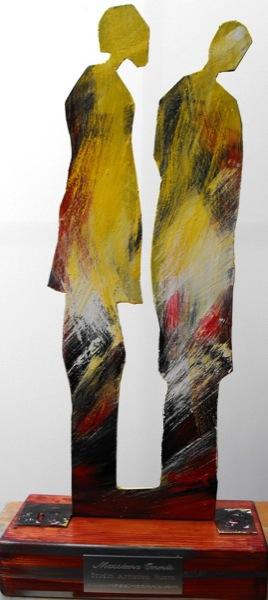 uomo e donna scultura 60x27x13