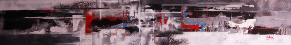 urban movement acrilico su tela 190x32