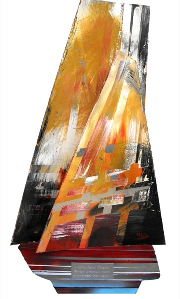 vela scultura 70x40x15