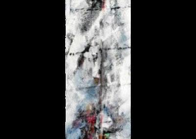vibrazioni sul mare 2 - acrilico su mdf 116x20