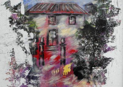 villa piercy a bolotana affresco su mdf 70x100